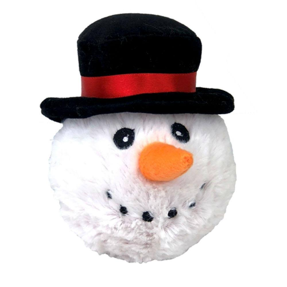 Petlou 4-Inch Christmas EZ Snowman Ball Dog Toy