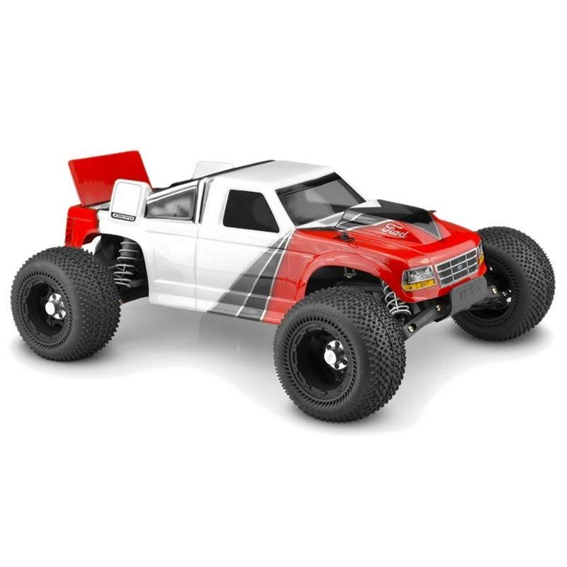 JConcepts 1993 Ford F-150 Clear Body with Spoiler Rustler VXL JCO0375