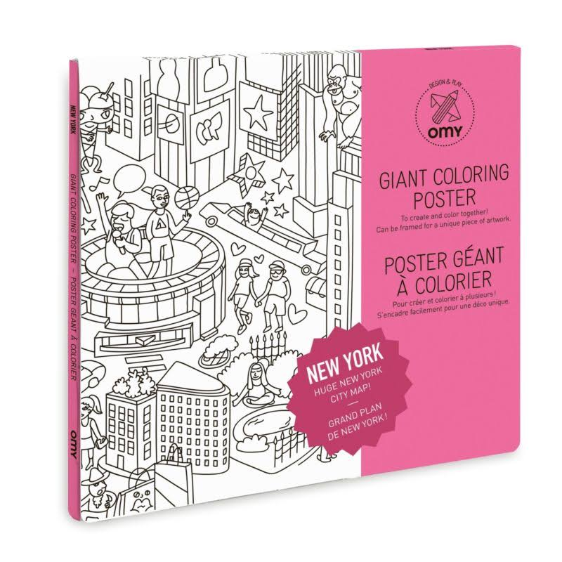 OMY Design and Play Giant Colouring Poster - New York, 80cm x 115cm