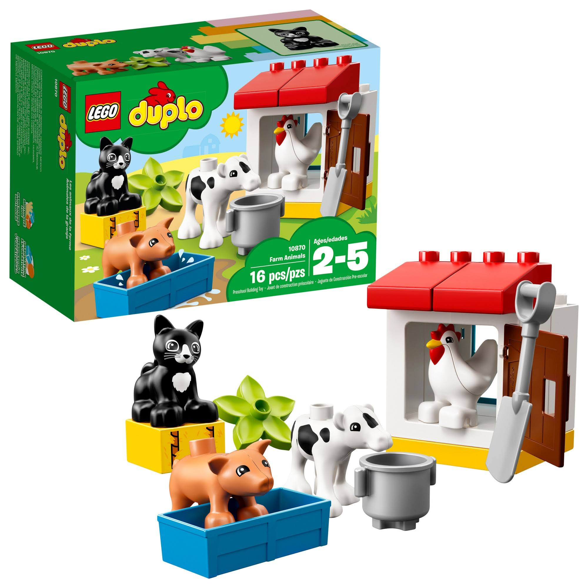 Lego 10870 Duplo Town Farm Animals Building Toy