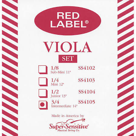Super Sensitive Red Label 14 inch Viola Set
