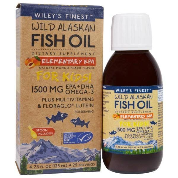 Wileys Finest Wild Alaskan Fish Oil - 125ml, 1500mg