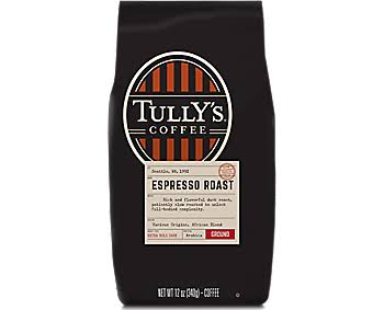 Tully's Coffee Grand Ground Coffee - Espresso Roast, 12oz