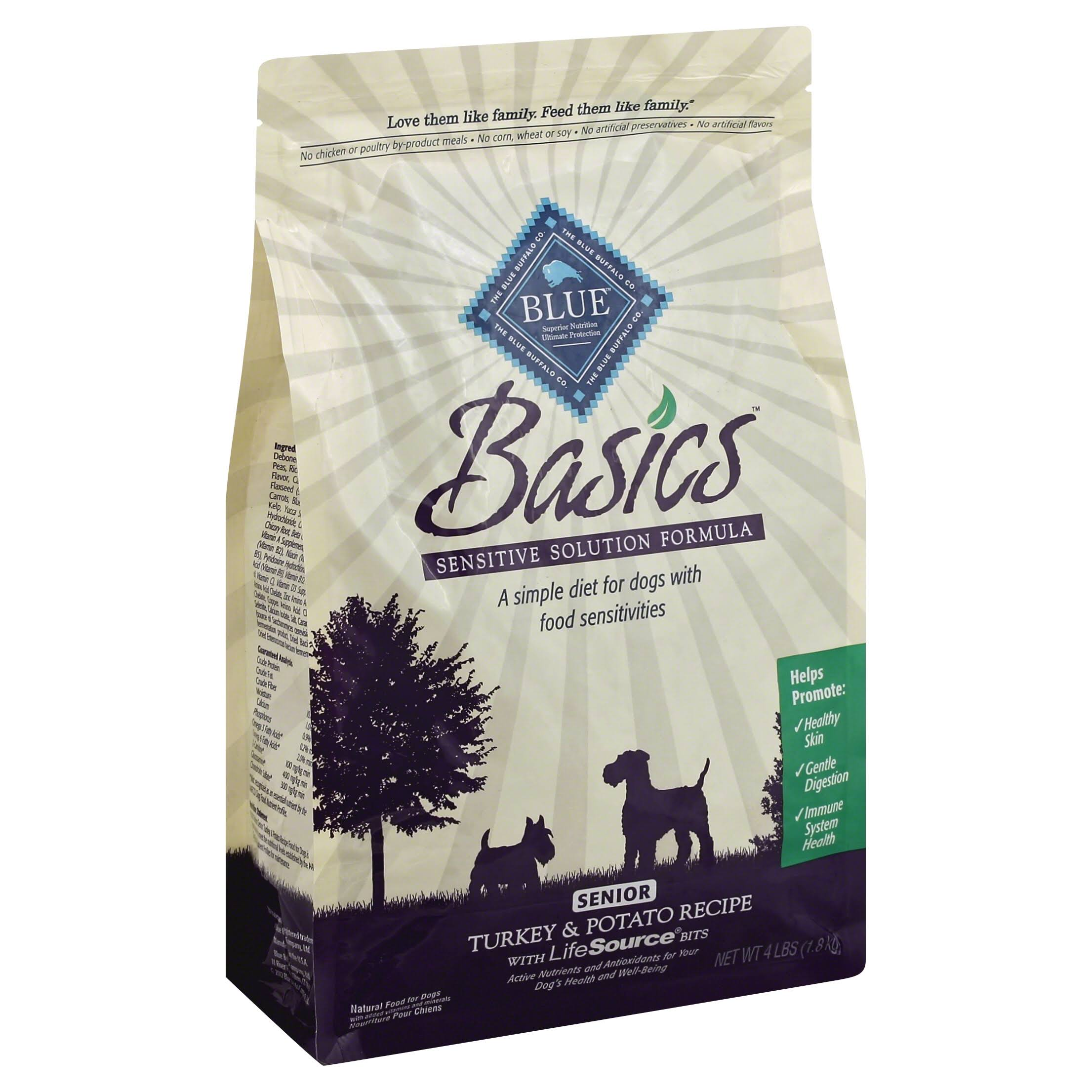 Basics Dog Food - Turkey & Potato, 4lb