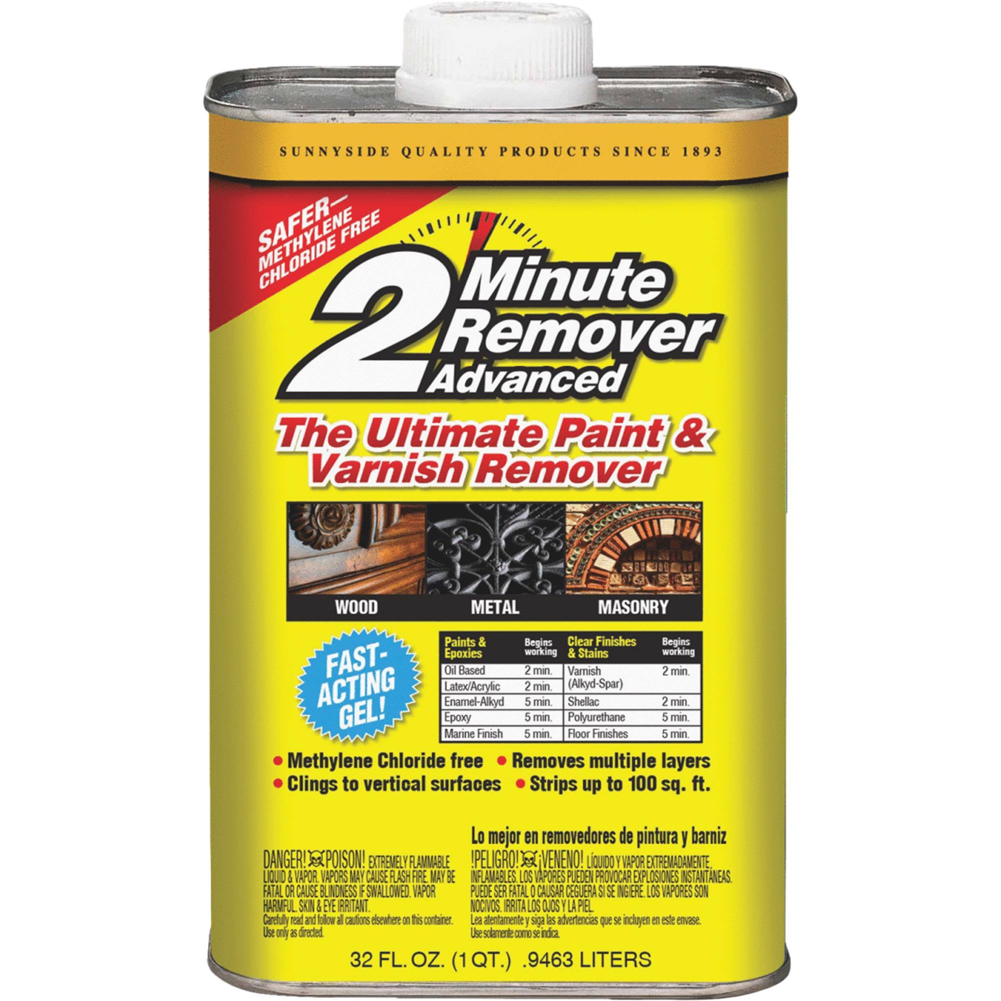 Sunnyside 2 Minute Remover Advanced Paint & Varnish Stripper 63432