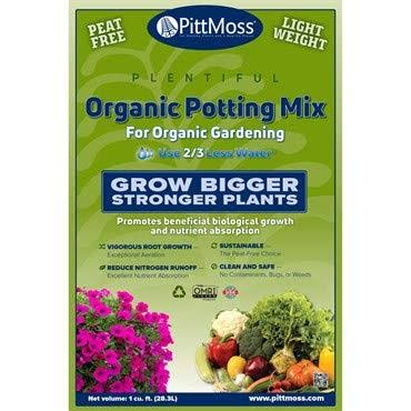 PittMoss Organic Potting Mix for Organic Gardening 1 Cubic Foot