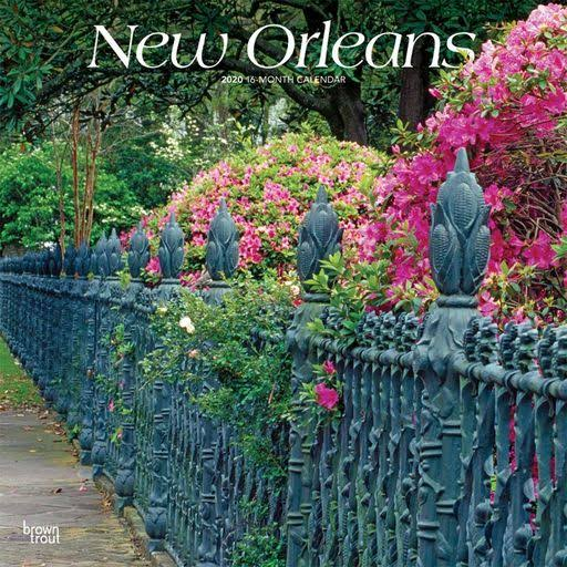 BrownTrout New Orleans 2020 Wall Calendar