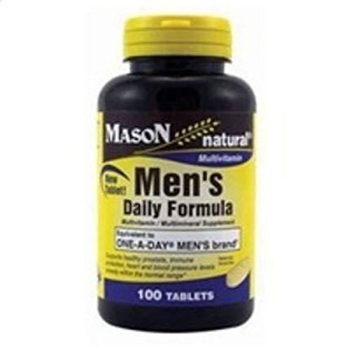 Mason Natural Men's Daily Formula Multi-Vitamin - 100 Tablets