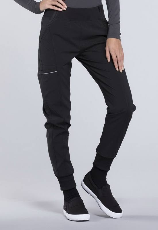Cherokee CK110A Mid Rise Tapered Leg Jogger Pant - Black - XS