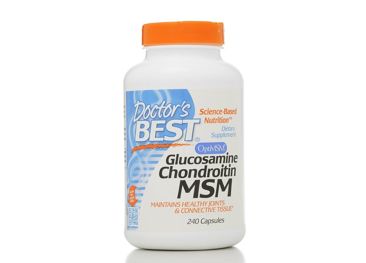 Doctor's Best Glucosamine Chondroitin MSM Capsules - 240-Count