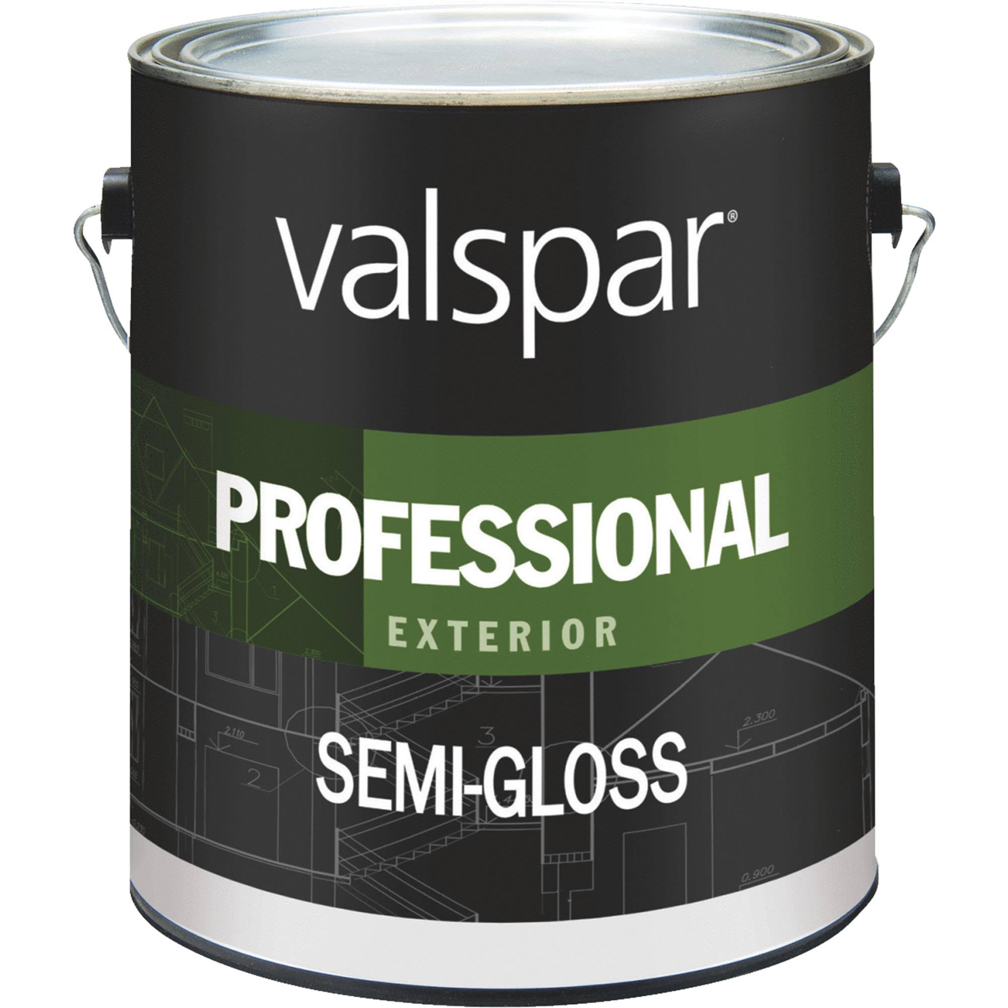 Valspar Professional Exterior Latex Paint - Semi-Gloss