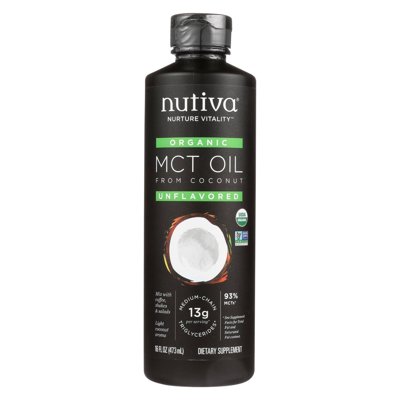 Nutiva Organic MCT Oil from Coconut Unflavored 16 fl oz