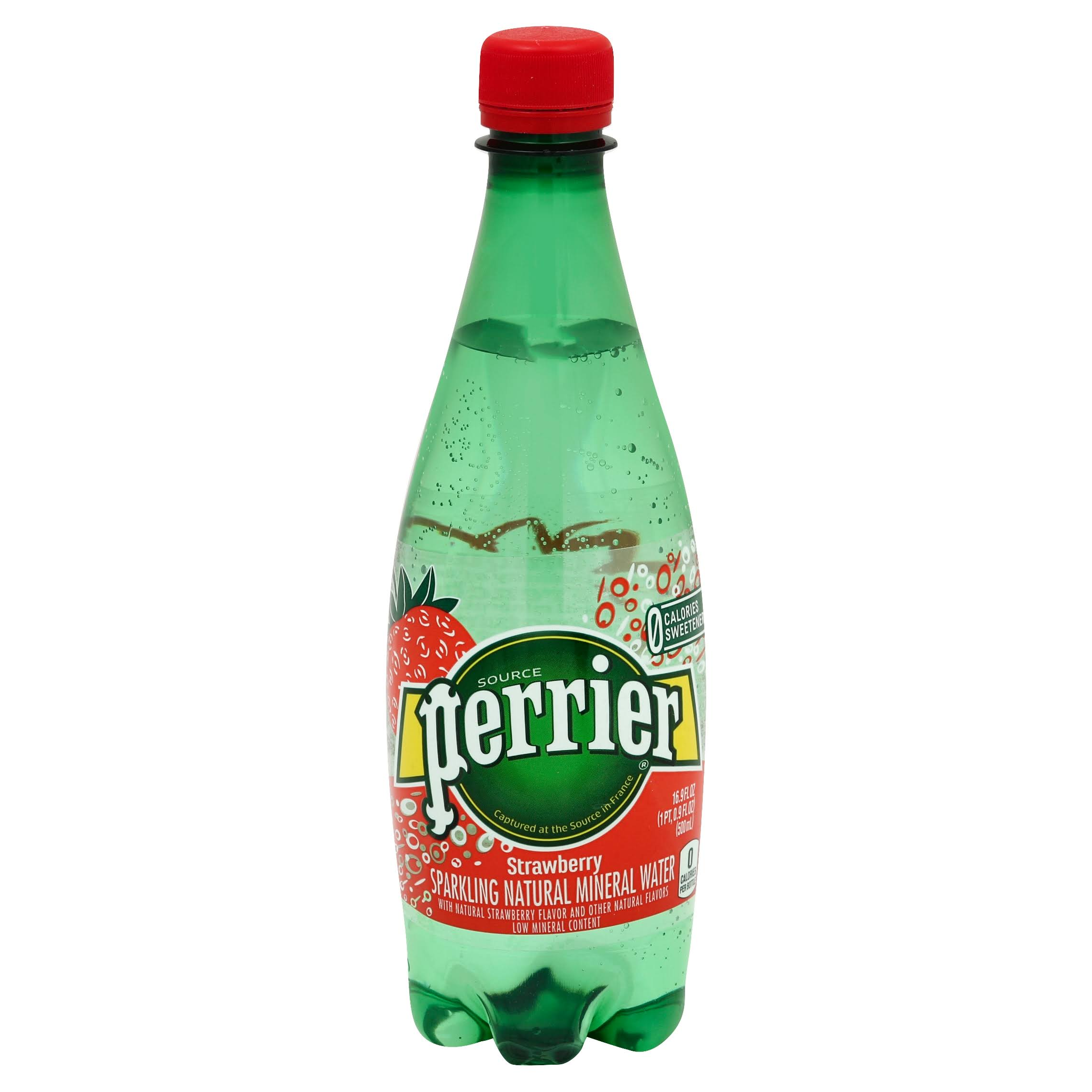 Perrier Hydro Mineral Water, Sparkling, Strawberry - 16.9 fl oz