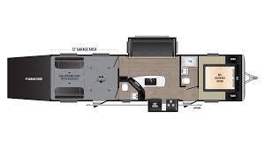 5th Wheel Toy Hauler Floor Plans by Keystone Impact 332 Travel Trailer Toy Hauler For Sale