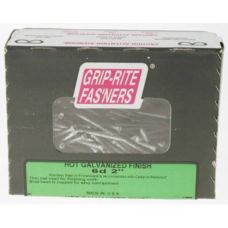 Grip-Rite 6-Penny Hot-Galvanized Steel Finish Nail - 2""