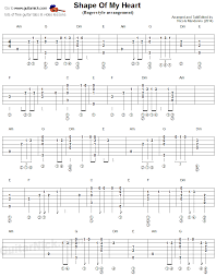 1979 The Smashing Pumpkins Tab by Shape Of My Heart Fingerstyle Guitar Tablature 1 Gitara