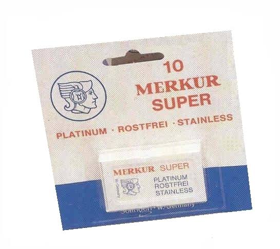 Merkur 10 Super Safety Razor Blades Double Edge Stainless Steel Blades