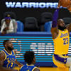LeBron, short-handed Lakers beat up on Warriors 128-97