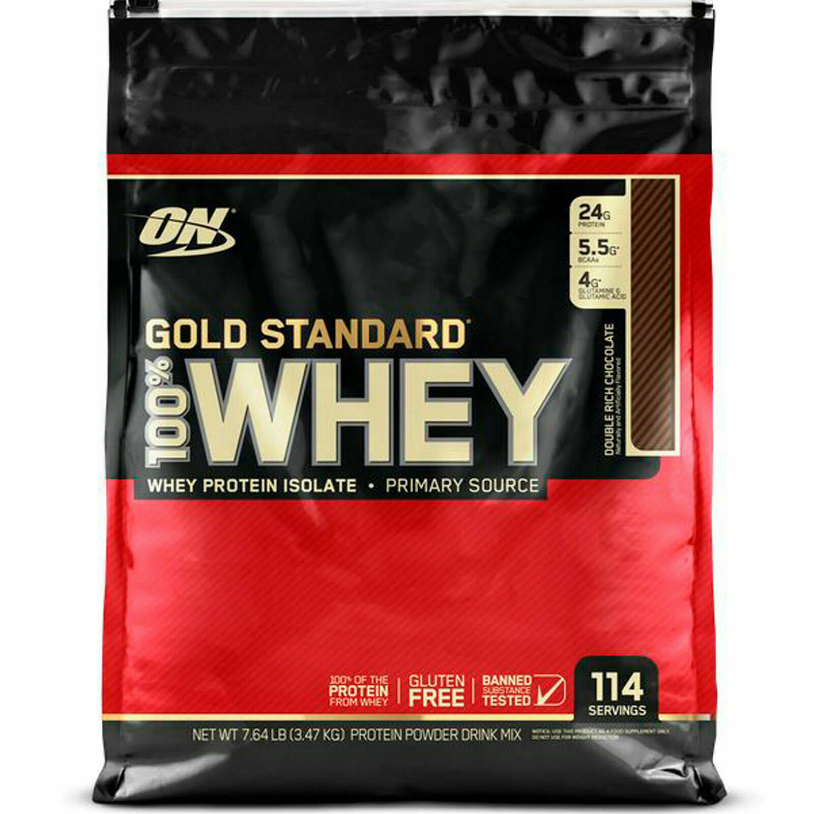 Optimum Nutrition Gold Standard 100 Whey - Double Rich Chocolate, 7.64lbs