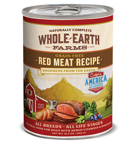 Whole Earth Farms Canned Dog Food - Red Meat Recipe, 12.7oz