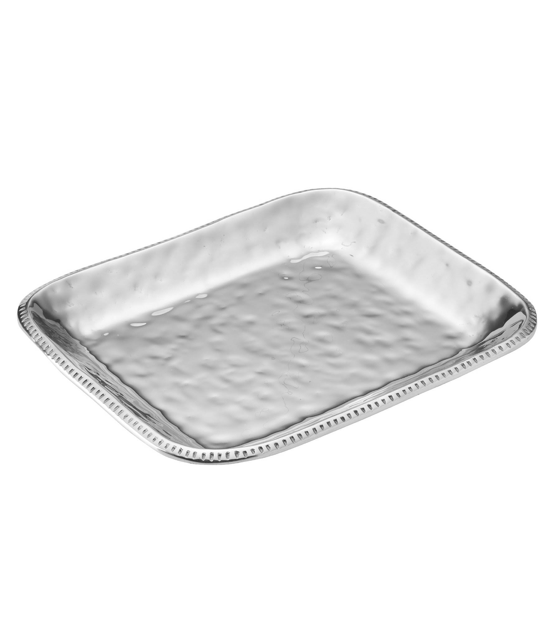 Wilton Armetale River Rock Large Rectangular Tray, Silver(Aluminum)