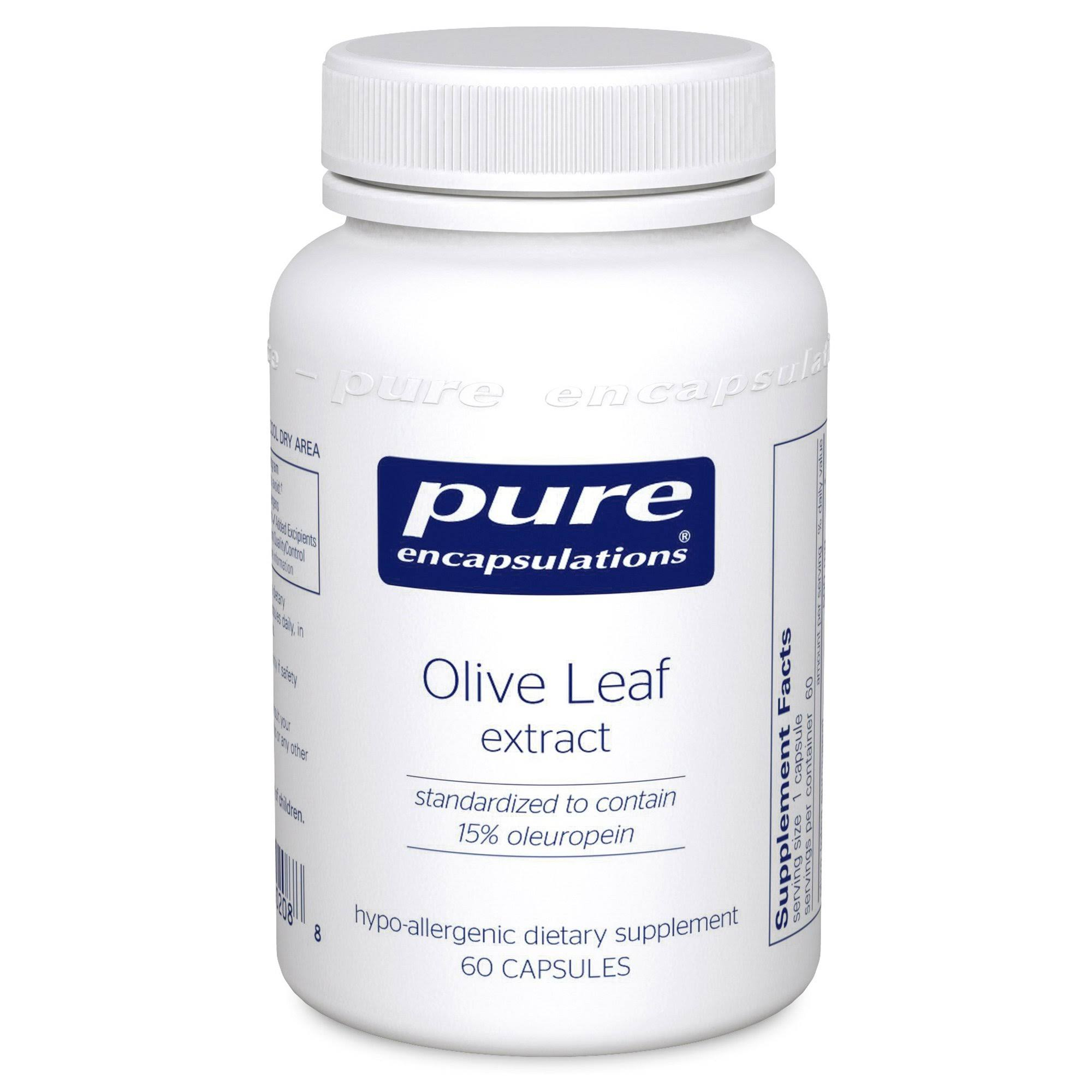Pure Encapsulations Olive Leaf Extract Dietary Supplement - 60ct
