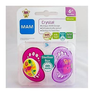 Mam Crystal Silicone Soother - 6+ Months