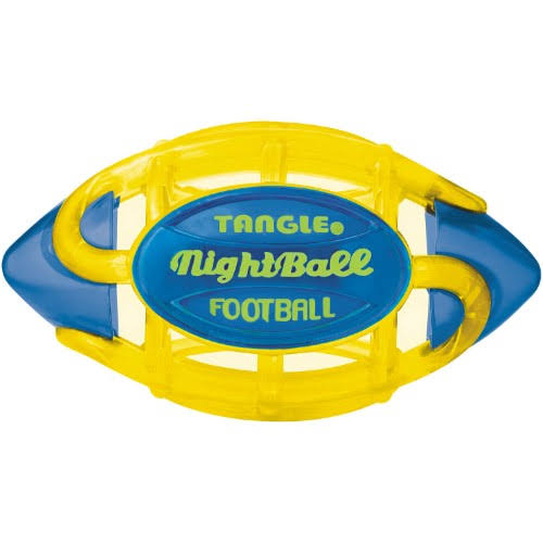 Tangle NightBall Football - Small, Yellow/Blue