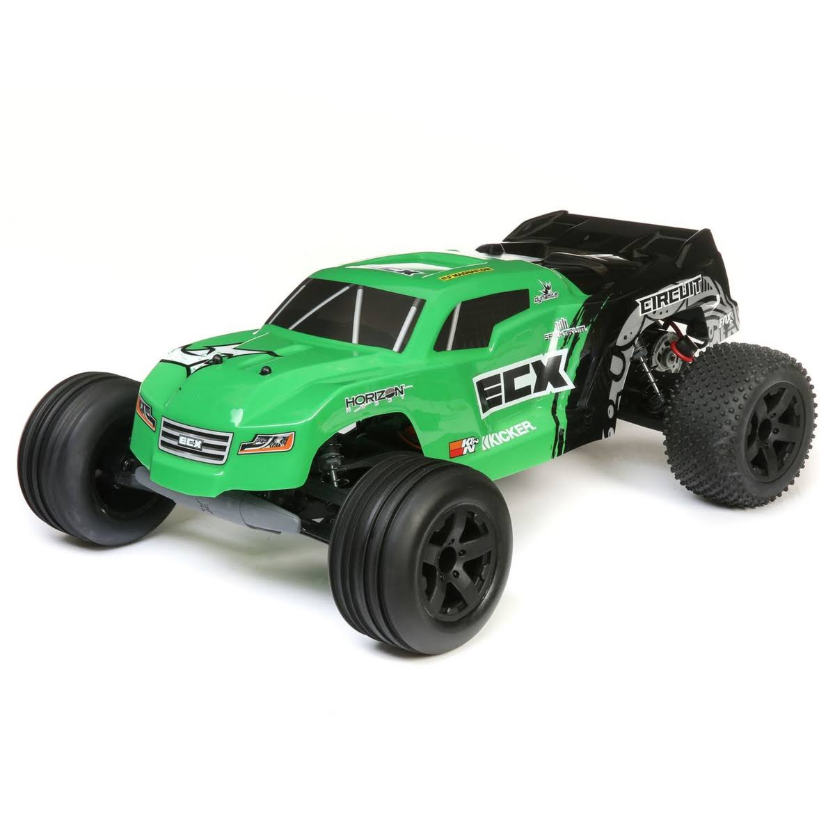 ECX Circuit 2wd Stadium Truck Brushed RTR RC Model Kit - Green, 1:10 Scale