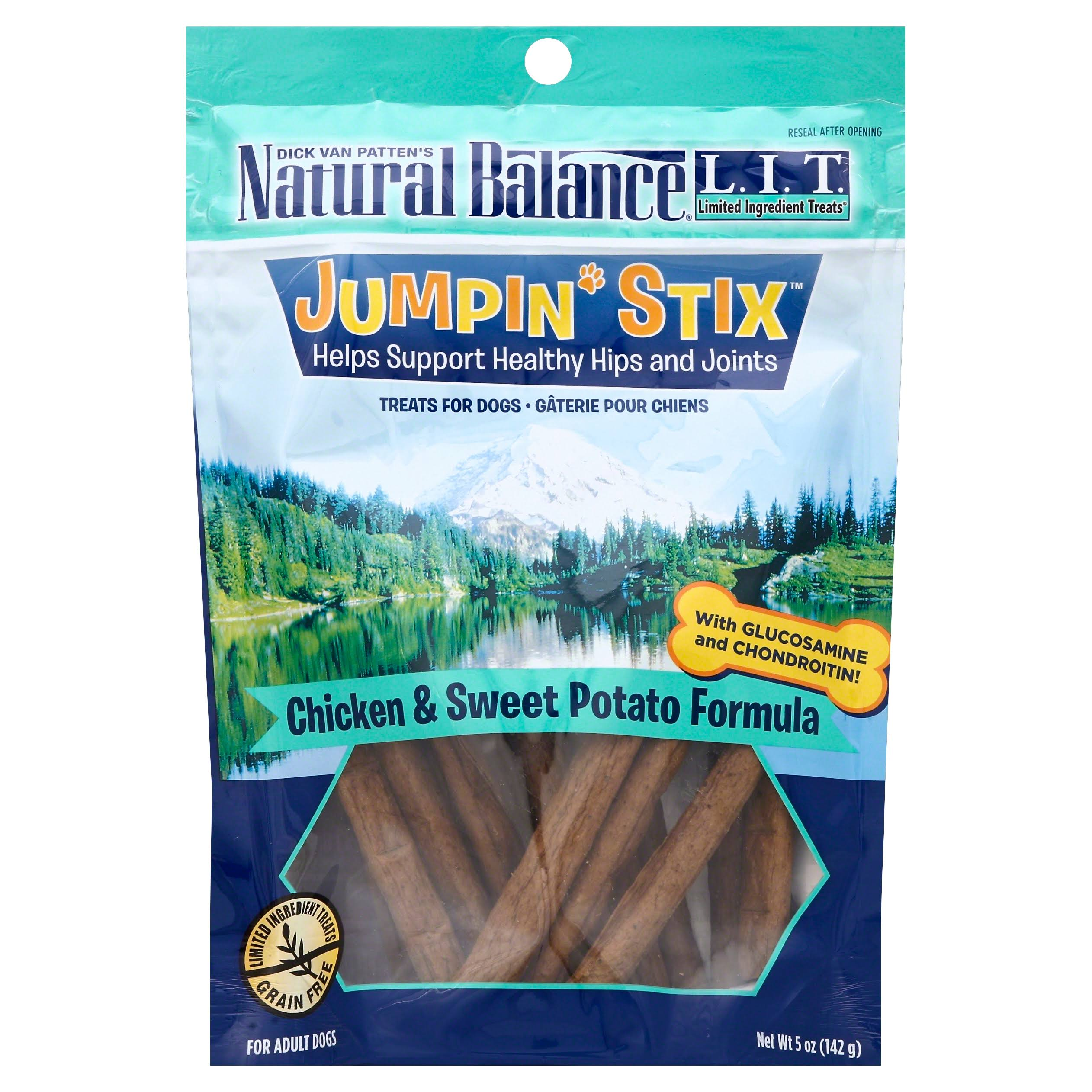 Natural Balance Limited Ingredient Jumpin' Stix Dog Treat - Chicken and Sweet Potato Formula, 12 Pack