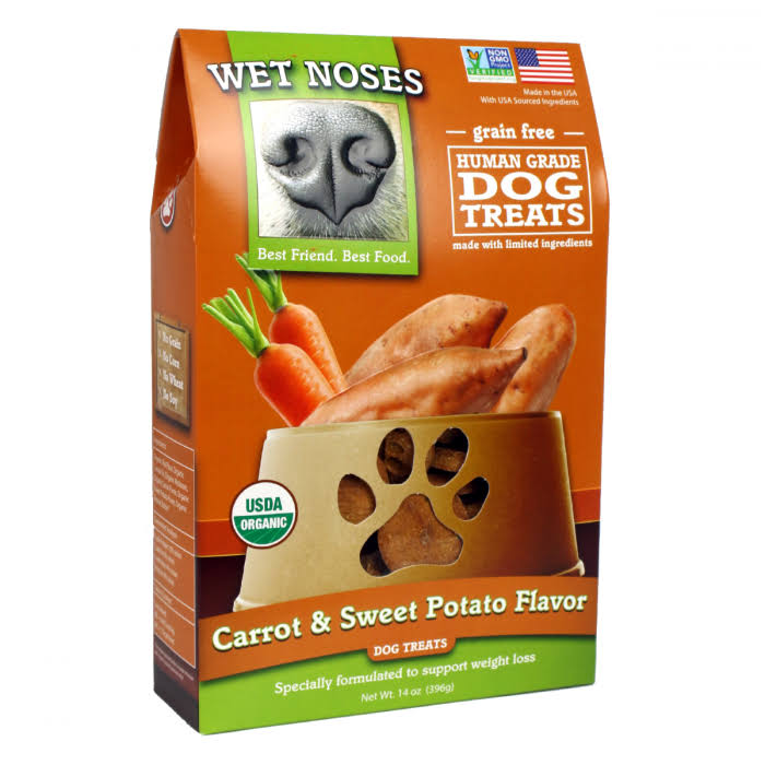 Wet Noses Original Grain Free Dog Treats - Carrot and Sweet Potato, 14oz