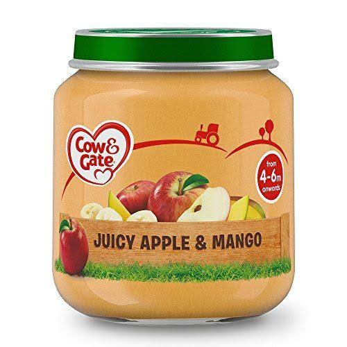 Cow & Gate Juicy Apple & Mango Fruit Puree Jar 125g