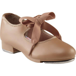 Capezio Girl's Jr. Tyette Tap Shoes - Caramel