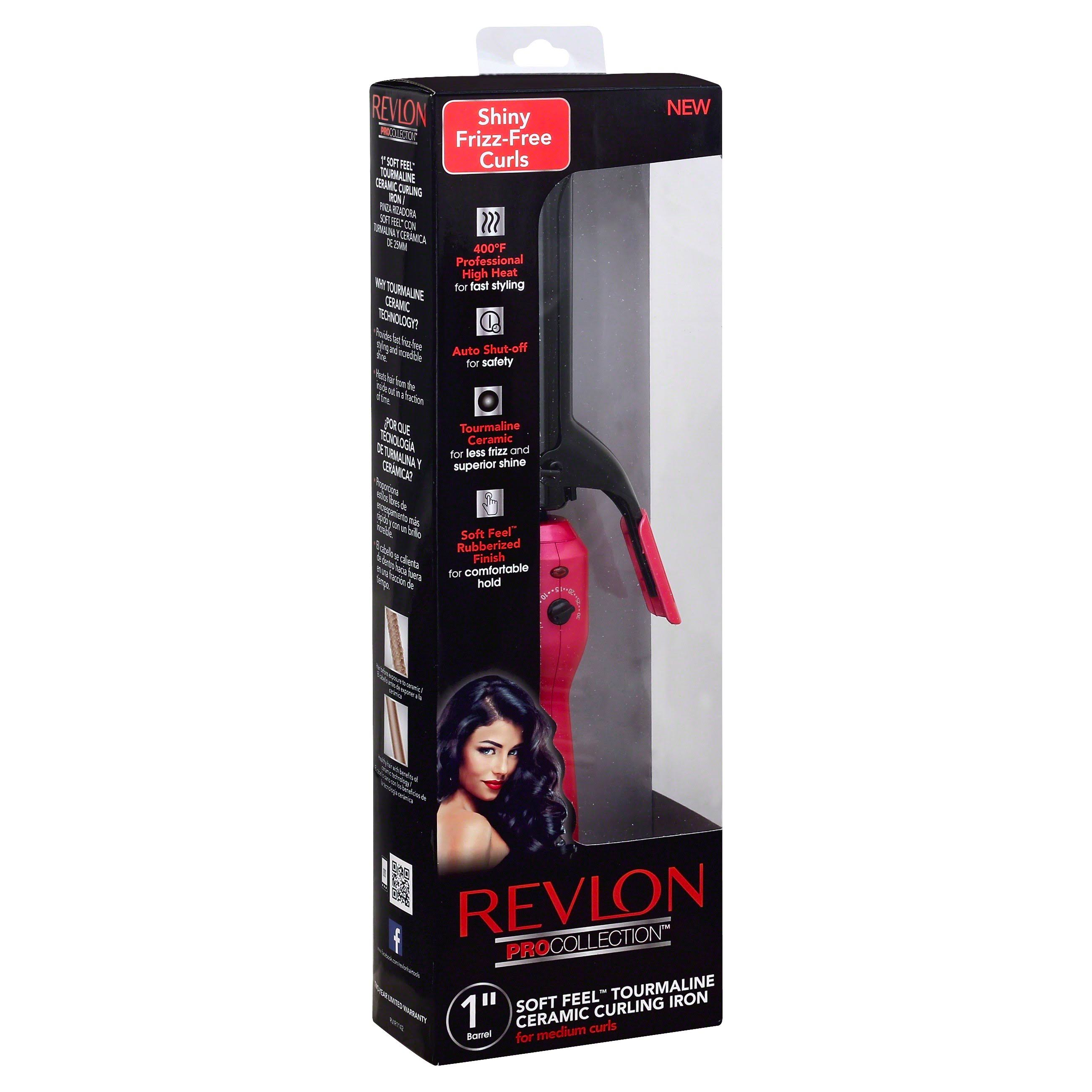 Revlon Pro Collection Barrel Tourmaline Ceramic Curling Iron - 1in