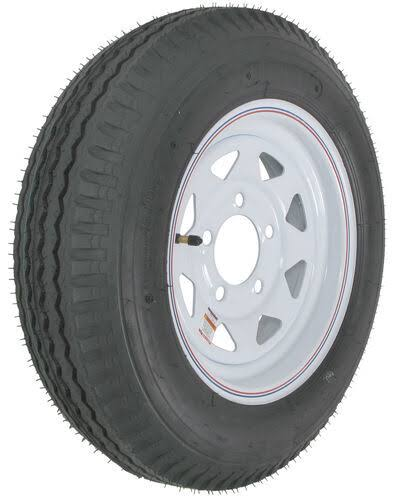 Loadstar Bias Tire and Wheel (Rim) Assembly 530-12 5 Hole 6 Ply, White