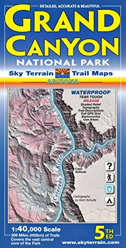 Grand Canyon National Park, Arizona, Trail Maps [Book]