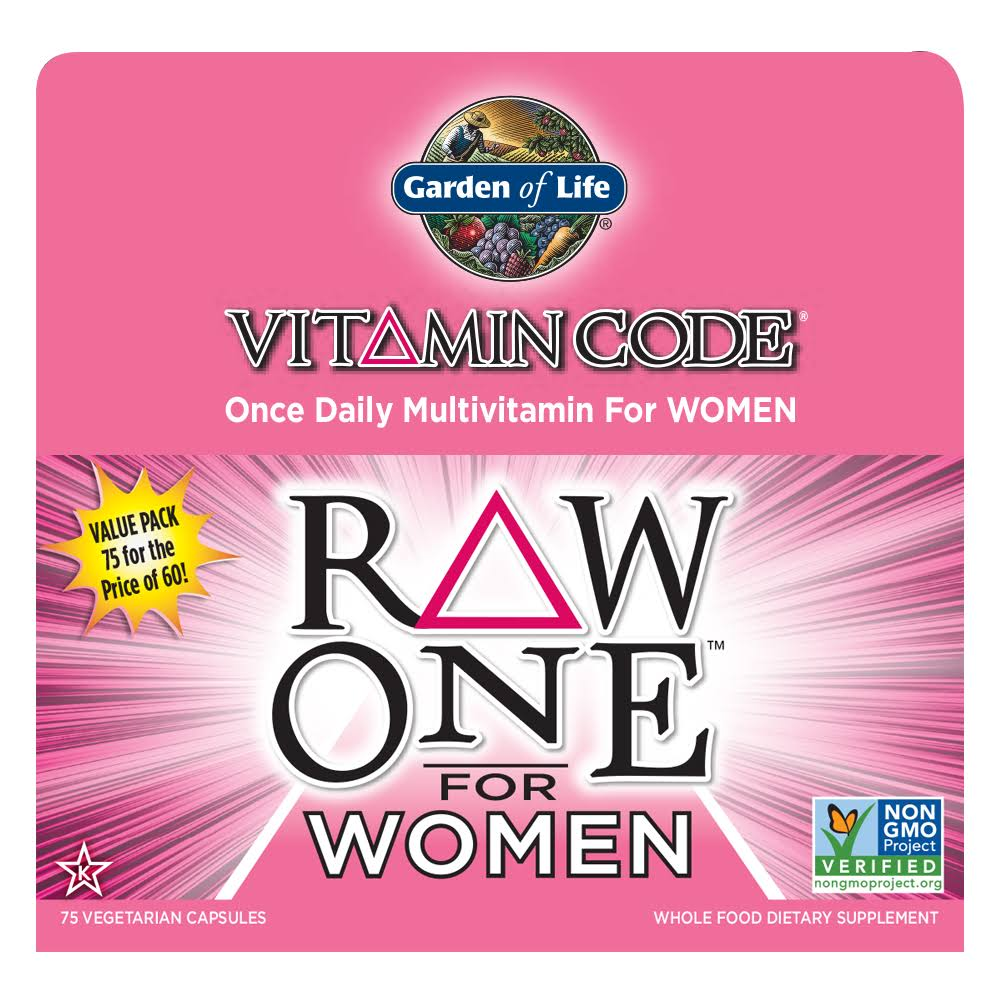 Garden Of Life Vitamin Code Raw One For Women Nutritional Supplement - 75 Capsules