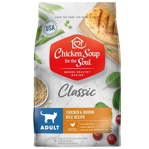 Chicken Soup for The Soul Adult Recipe with Chicken & Brown Rice Dry Cat Food 13.5-lb