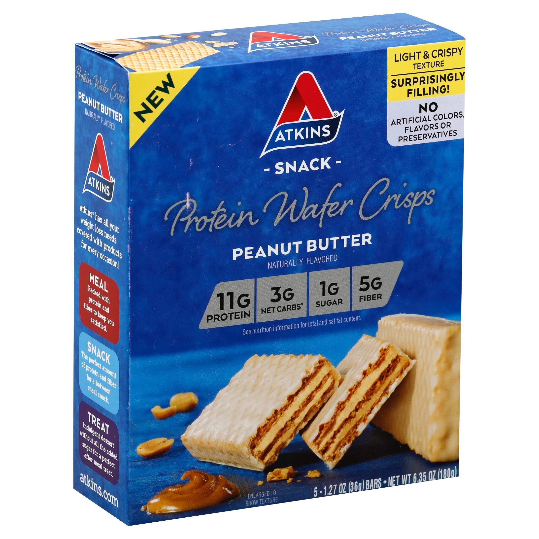 Atkins Protein Wafer Crisps - Peanut Butter, 5ct