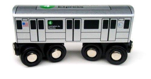 Munipals Wooden Railway Train Toy Set - NYC Subway Car 4