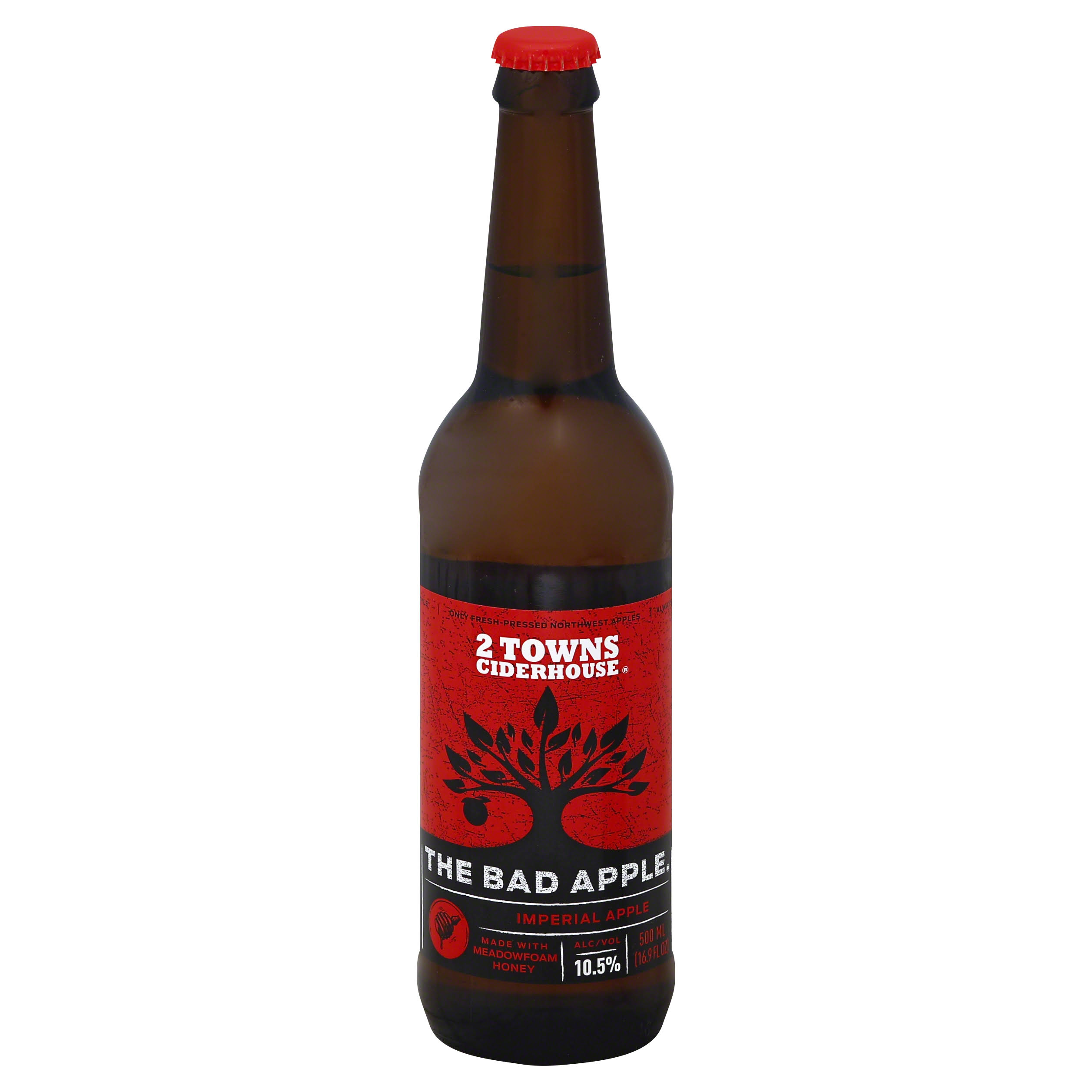 2 Towns Ciderhouse The Bad Apple Cider - 16.9oz