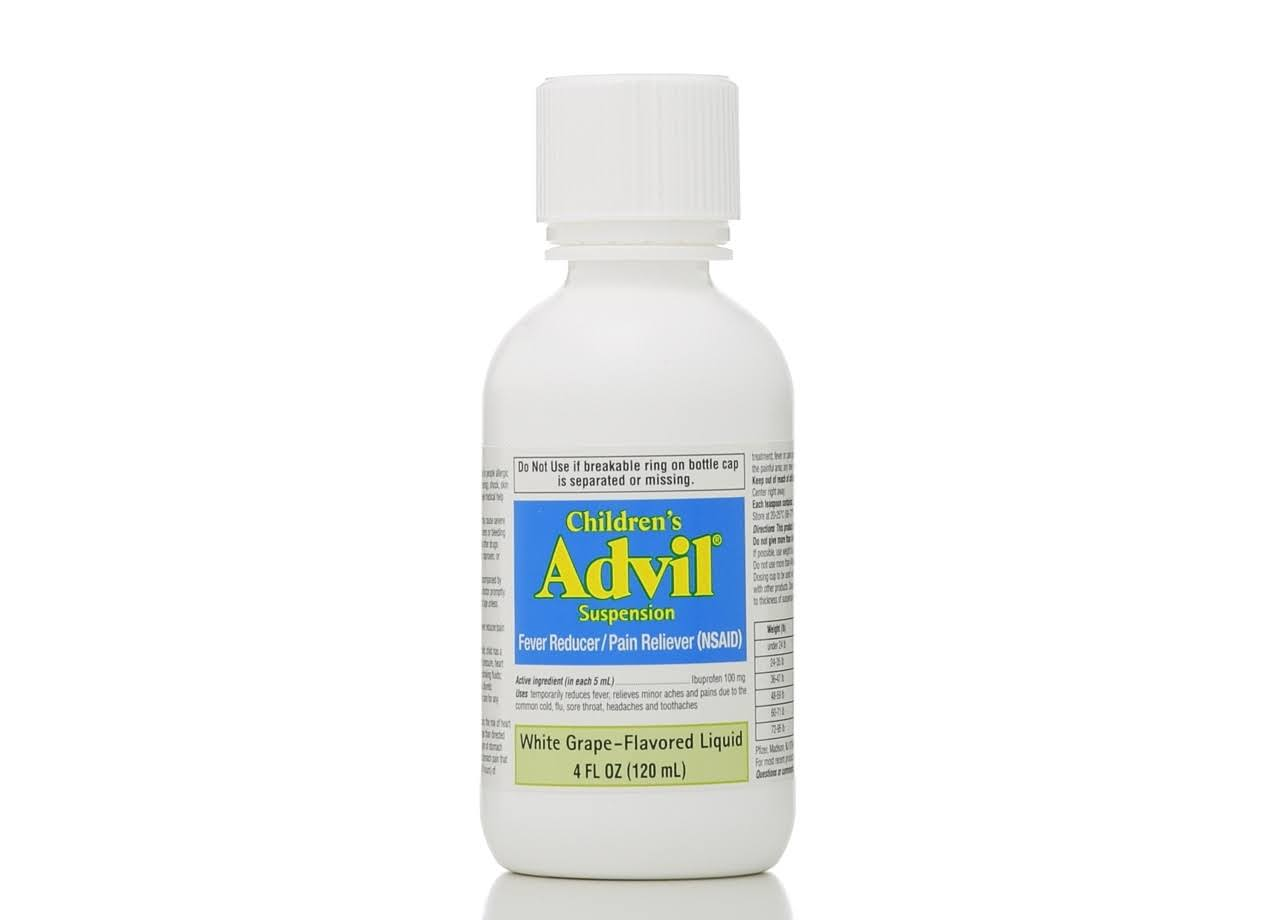 Advil Children's Suspension Fever - White Grape, 4oz