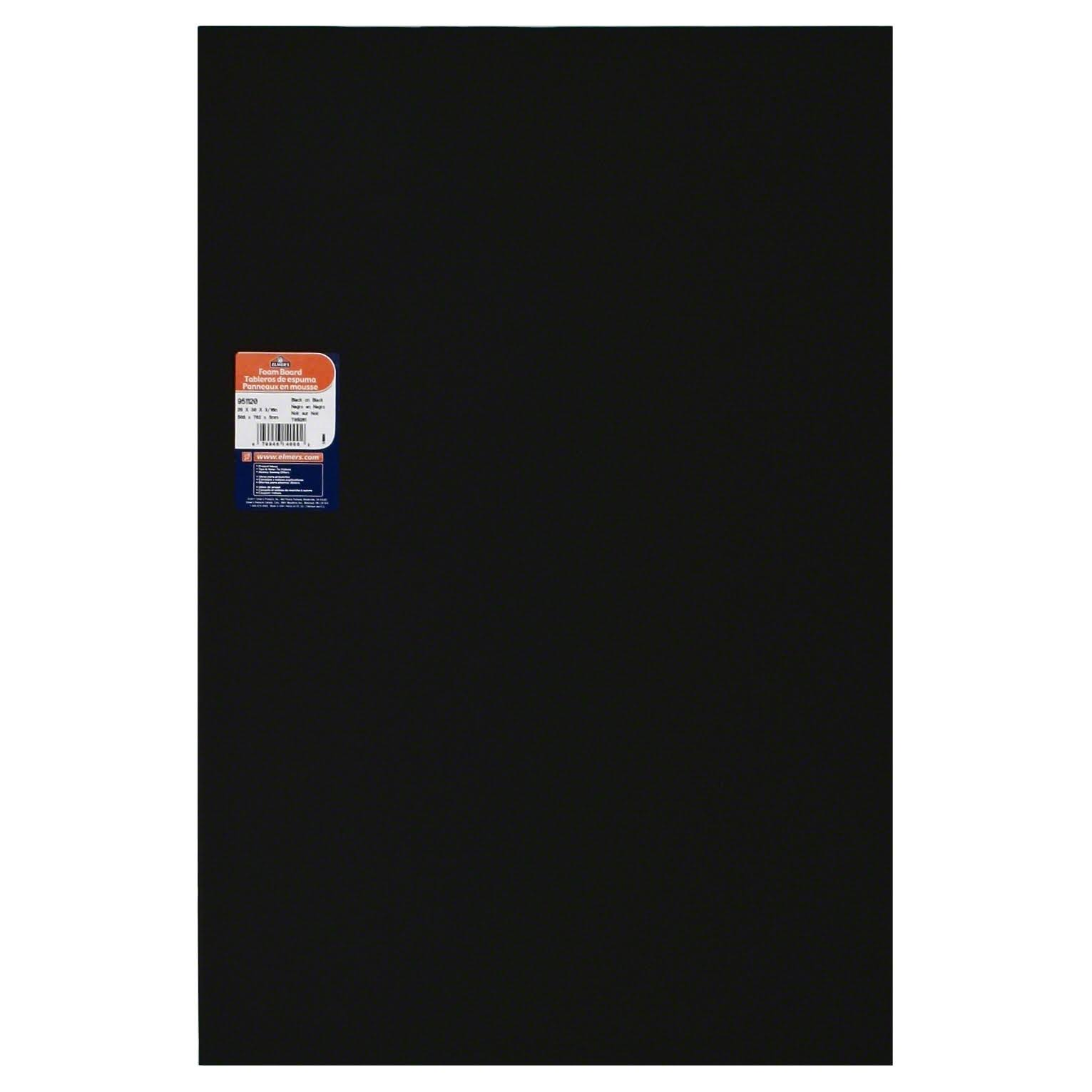 "Elmer's Colored Foam Boards - 20"" X 30"", 3/16"" Thick, Black"