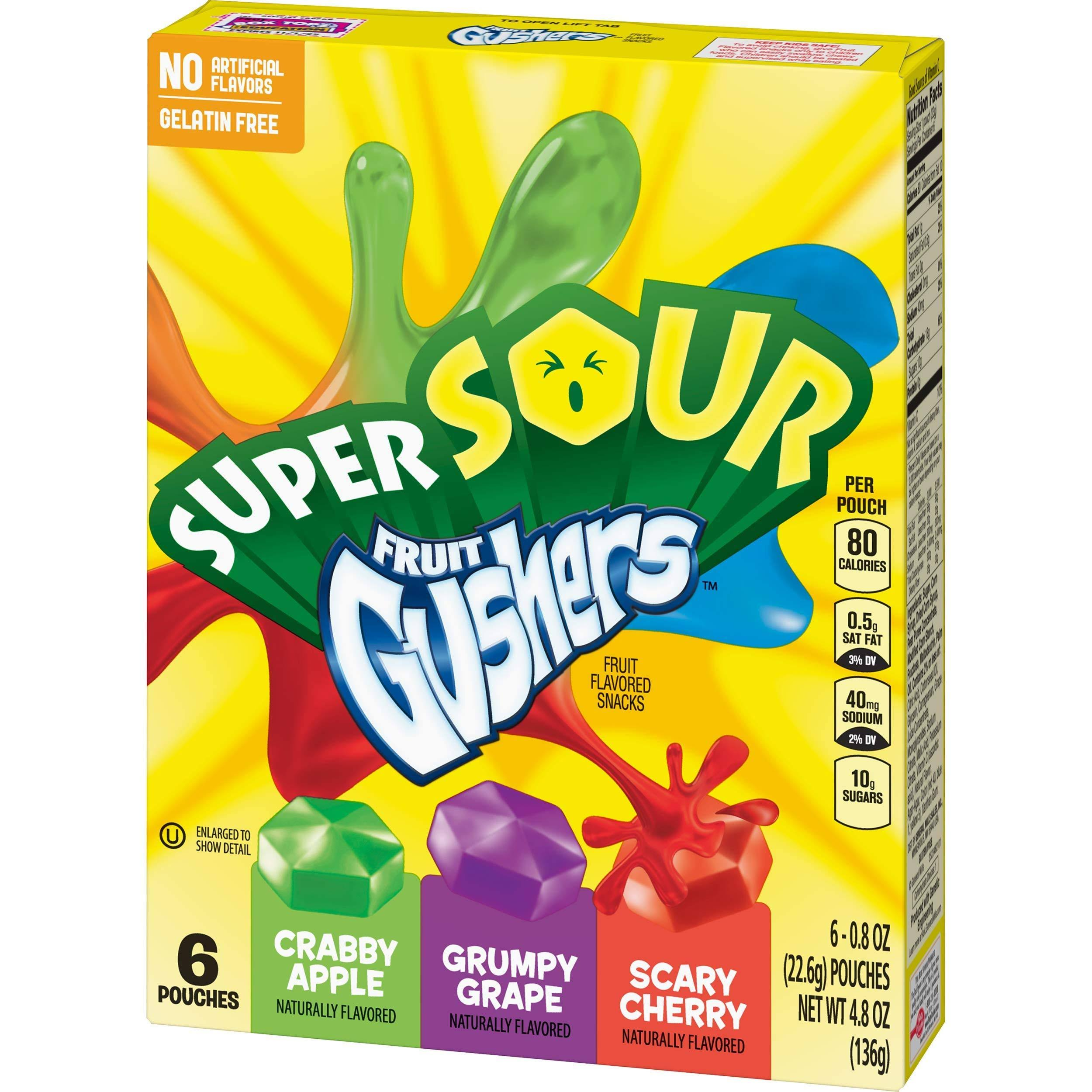 Super Sour Fruit Flavored Snacks - 6ct, 4.8oz