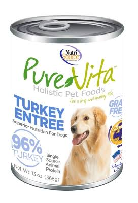 PureVita Grain-Free Turkey Canned Dog Food 12/13 oz