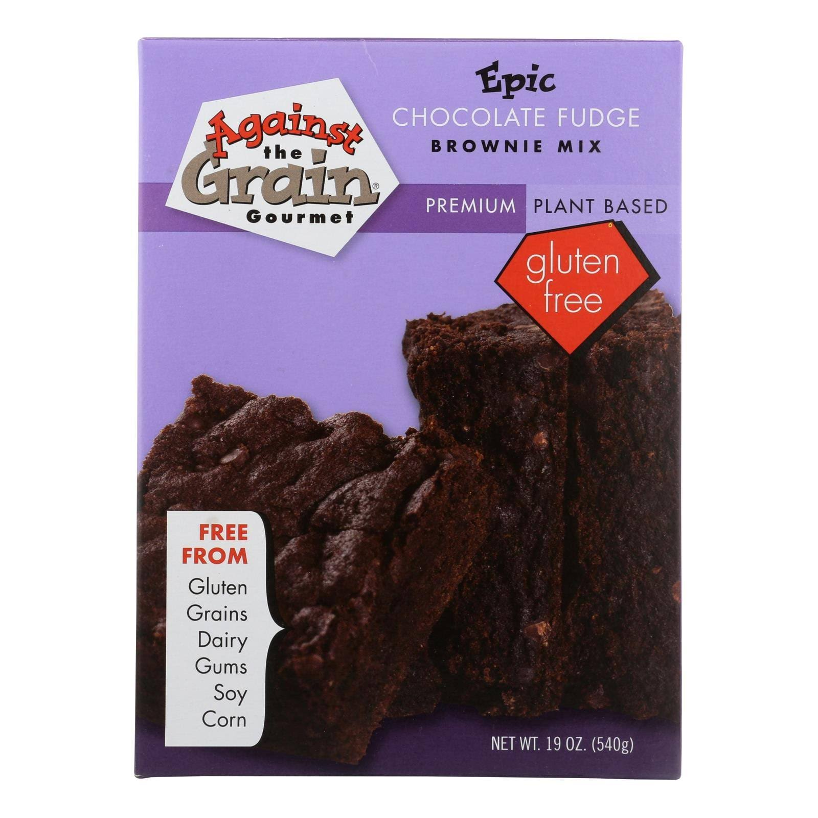 Against the Grain Brownie Mix, Epic, Chocolate Fudge - 19 oz
