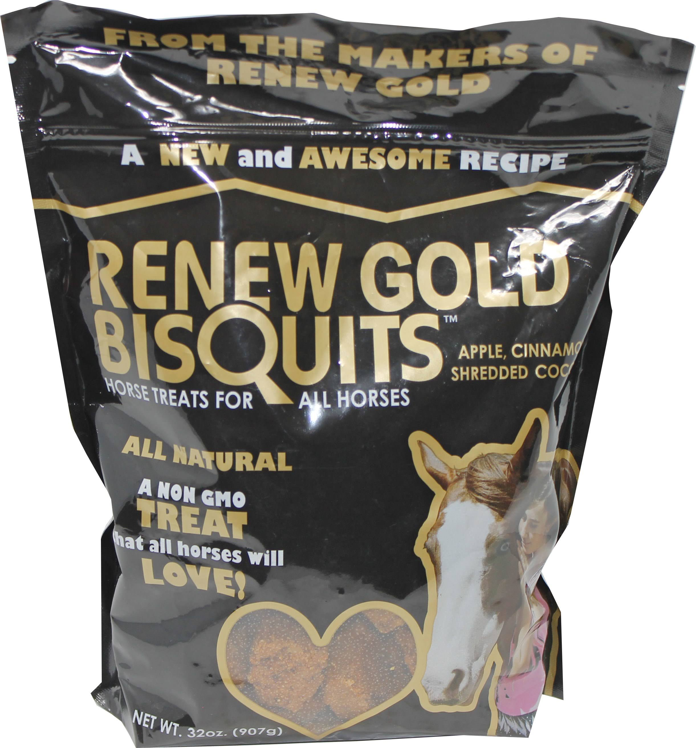 Manna Pro-equine 1030244 2 lbs Renew Gold Bisquits Horse Treats