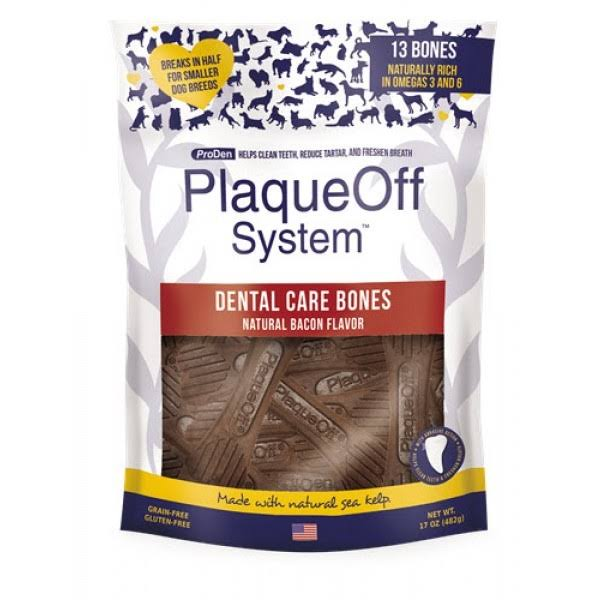 Proden PlaqueOff Dental Bones Bacon 17 Ounce