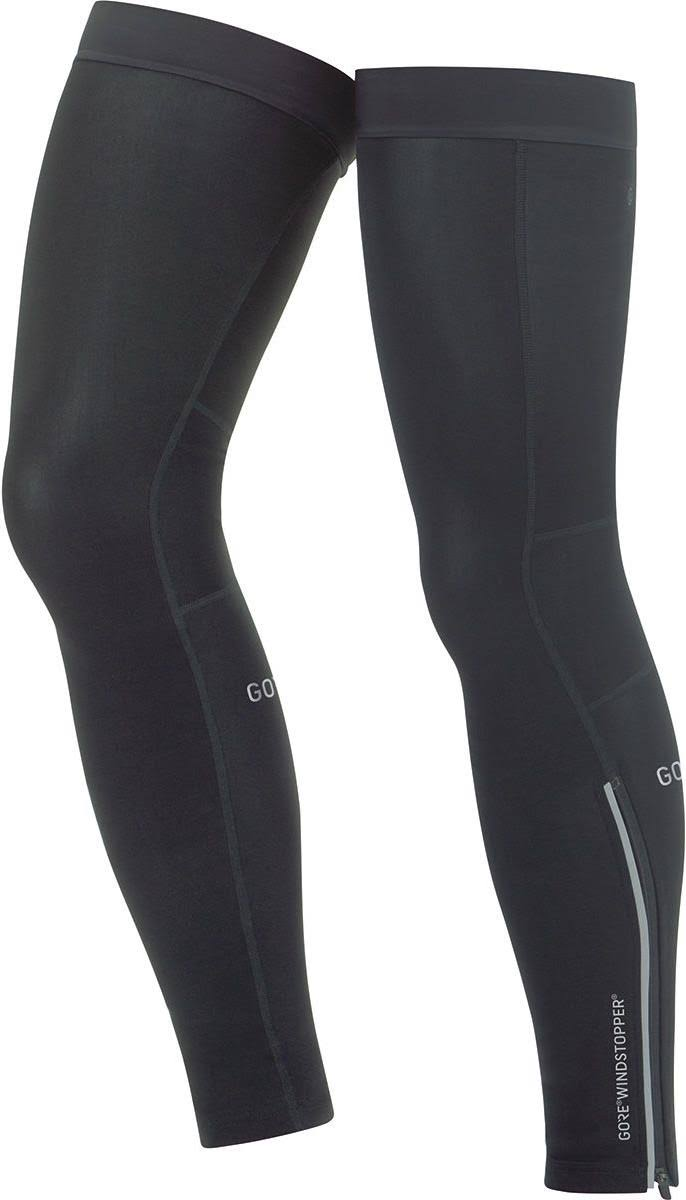 Gore Wear C3 Gore Windstopper Leg Warmers - Black, Medium