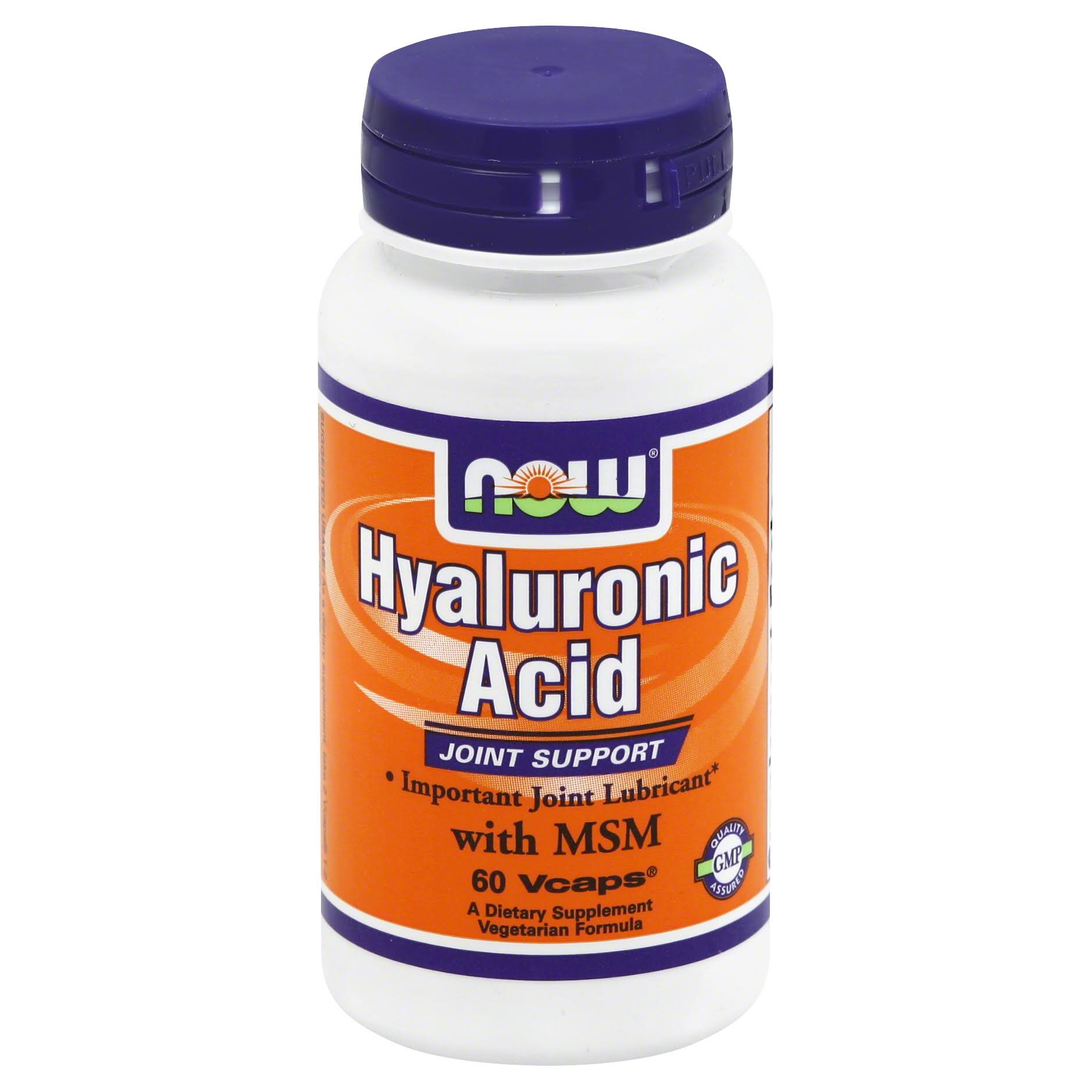 Now Hyaluronic Acid, with MSM, Vegetarian Formula, Vcaps - 60 vcaps